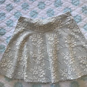 Circle skirt with floral detail